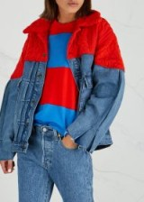 LEVI'S MADE & CRAFTED Blue Denim and red cable-knit jacket