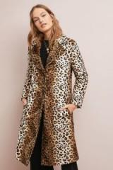 Helene Berman Lila Skinny Leopard Coat ~ glamorous winter coats