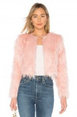 MAJORELLE HEATHER COAT CANDY PINK – shaggy faux fur