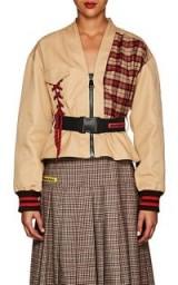 MARIANNA SENCHINA Mixed-Media Cotton Utility Jacket ~ contemporary utilitarian clothing