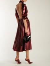 EMILIA WICKSTEAD Mariel open-back burgundy sequinned gown ~ rich red metallic dress