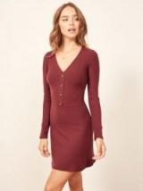 Reformation Marlene Dress in Garnet | autumn knitwear