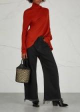 MARQUES'ALMEIDA Black frayed wide-leg jeans ~ dark denim