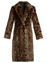 NILI LOTAN Marvin brown leopard-print faux-fur coat. ANIMAL PRINTS