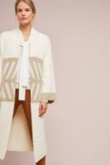 Anthropologie Merzouga Kimono Neutral Motif ~ stylish longline cardigan