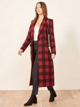 Reformation Middlebury Coat in Buffalo | autumn checked coats