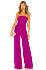 MILLY BROOKE JUMPSUIT Magenta – purple strapless jumpsuits