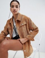 Missguided cord trucker jacket in brown ~ Autumn fashion