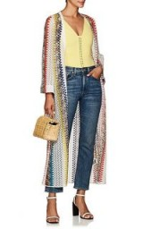 MISSONI MARE Geometric Crochet Open-Front Cardigan ~ long multicoloured cardi