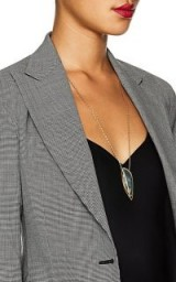 MONIQUE PÉAN Diamond and Agate Mixed-Gemstone Pendant Necklace