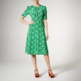 L.K. Bennett MONTANA GREEN SILK DRESS / vintage style fashion