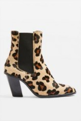Topshop Morty Leopard Print Ankle Boots | trending animal prints | autumn tones