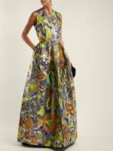 MAISON RABIH KAYROUZ Mosaic patchwork floral-jacquard gown ~ long luxe event wear