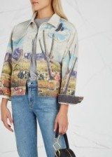 MOTHER Mountain Drifter printed denim jacket ~ graphic western prints