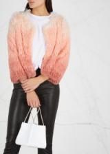 MOTHER The Boxy dégradé faux-fur jacket ~ peach ombre