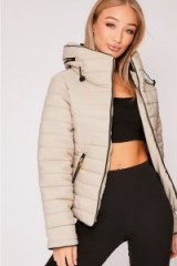 IN THE STYLE OSSIE STONE PADDED JACKET ~ casual autumn/winter jackets