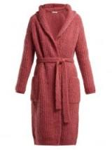 MAX MARA Ovada rose-pink cardigan ~ hooded waist tie cardi
