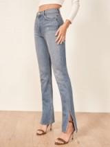 Reformation Perri Jean in Lanai | side slit hem jeans