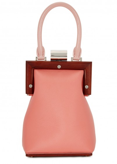 PERRIN PARIS La Minaudiére pink leather box bag / small handbag