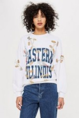 TOPSHOP PETITE Illinois Sweatshirt / sporty slogan top