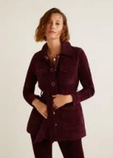 Mango Pockets leather jacket in Maroon – retro fashion – 70s vintage inspiration