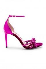 RACHEL ZOE AUBREY SANDAL MAGENTA – metallic leather and suede heels