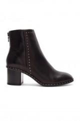 Rag & Bone WILLOW STUD BOOTIE Black Leather – studded block heel boot