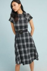 Maeve Rebecca Plaid-Jacquard Dress Black Motif / checked dresses