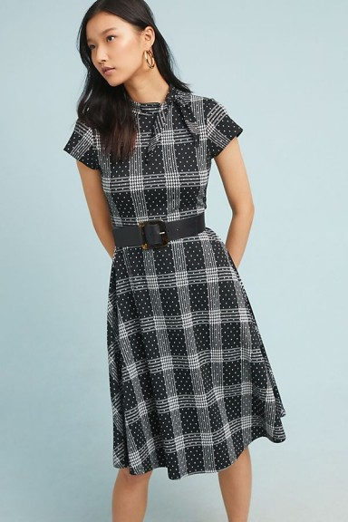 Maeve Rebecca Plaid-Jacquard Dress Black Motif / checked dresses