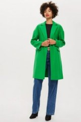 Topshop Relaxed Coat in Apple | green autumn coats