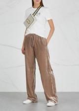 REPLAY Mushroom velour sweatpants ~ slinky casual pants
