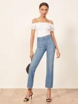 Reformation 70'S Jean in Chesapeake | seamed high waist retro denim jeans