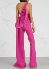 SAFIYAA Pink bow-embellished jumpsuit ~ little details create beautiful clothing