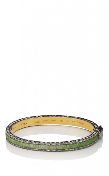 SEVAN BIÇAKÇI Carnelian and Malachite Diamond Bangle / luxe handmade jewellery