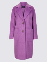 M&S COLLECTION Single Breasted Coat Amethyst / violet overcoat