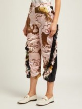BY WALID Sissy pink antique-silk trousers | oriental inspired prints