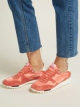 GOLDEN GOOSE DELUXE BRAND Starland pink suede raised-sole low-top trainers