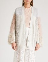 STELLA MCCARTNEY Patchwork knitted cardigan ~ fluffy sleeved cardi ~ luxe knitwear