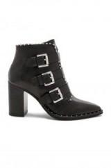 STEVE MADDEN HUMBLE BOOTIE Black – block heel biker boot