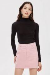 Topshop Sugar Pink Denim Skirt | girly mini