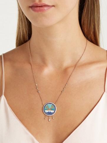 JACQUIE AICHE Sunshine opal & diamond rose-gold necklace | luxe pendant necklaces | luxury boho accessory