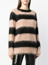 T BY ALEXANDER WANG black and clay striped oversized jumper | soft feel crew neck
