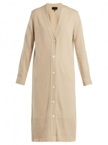 NILI LOTAN Tagen long cream cashmere cardigan ~ effortlessly stylish longline cardi