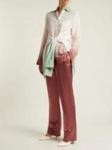 SIES MARJAN Tatum pink satin trousers