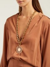 CHLOÉ Terry Plexiglas necklace ~ large round pendant necklaces