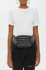 Topshop Tokyo Studded Bumbag in Black | chunky fanny pack