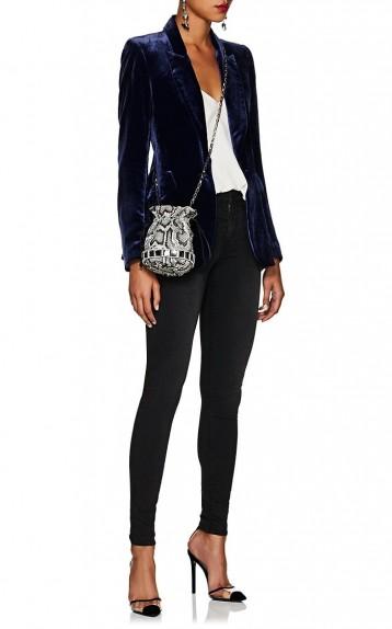 TOMASINI Lucile Grey Python-Stamped Leather Mini Bucket Bag ~ glamorous reptile embossed crossbody
