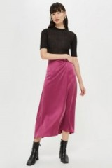 Topshop Waterfall Skirt in Raspberry by Boutique