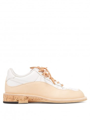 PETERSON STOOP Wavey cork recycled leather trainers