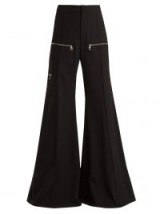 CHLOÉ Black Wide-leg virgin-wool blend trousers ~ 70s style extreme flares